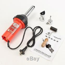 1080W Plastic Welding Hot Air Torch Welder Gun Pistol Tool with Nozzle & Roller