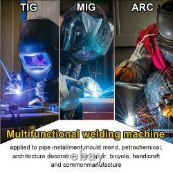 110/220V LCD MIG Welder 200A MIG TIG ARC Stick Weld with Spool Gun Weld Aluminum