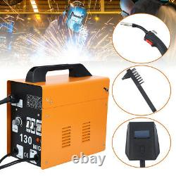 110V Automatic MIG 130 Welding Machine Welder Free Mask Welding Gun Brush