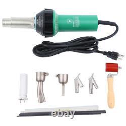 1500W Air Torch Plastic Welding Gun Welder Pistol+ 4 Speed Nozzles + Roller Hot