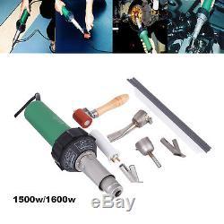 1500With1600W Hot Air Plastic Welding Gun Welder Pistol + 4 Speed Nozzle + Roller