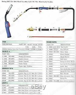 16 300A 0.8-1.2 36 KD MIG Gun for ESAB 353CV Mig Welder Mig-4HD Wire Feeder