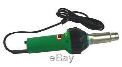 1600W 110V Plastic Hot Air Torch Welding Gun Welder Pistol& Speed Nozzle& Roller