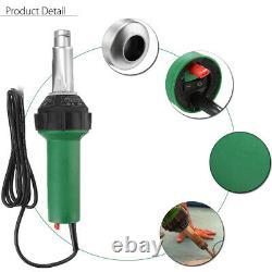 1600W 220V 3000Pa Hot Air Plastic Welding Torch Gun Nozzles Roller Welder