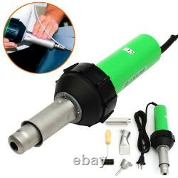 1600W 220V Plastic Welding Torch Welder Hot Air Gun + Tip Nozzle Roller
