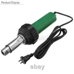 1600W 220V Plastic Welding Torch Welder Hot Air Gun & Tip Nozzle Roller Tool Set