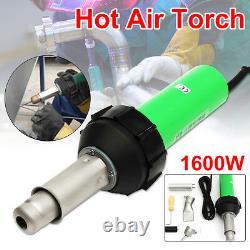 1600W 220V Plastic Welding Torch Welder Hot Air Gun + Tip Nozzle Roller z