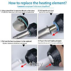 1600W Hot Air Gun Plastic Welder Welding Torch Heat Gun Nozzle Roller Pistol Kit