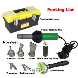 1600W Hot Air Plastic Welding Gun 110V Pistol Welder Heat Gun Torch Kit