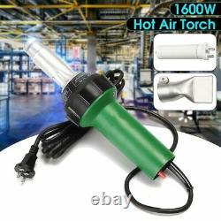 1600W Hot Air Torch Plastic Welding Gun For Welder Flat Nose AC 220V 50/60Hz
