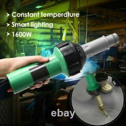 1600W Hot Air Torch Plastic Welding Gun Heat Welder Pistol + Nozzles Roller