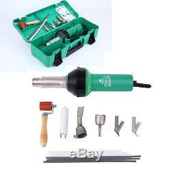 1600W Hot Air Torch Plastic Welding Gun Kit Welder Pistol Tool with ABS Hard Case