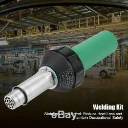 1600W Hot Air Torch Plastic Welding Gun Welder Pistol Tool + 2 Nozzles + Roller