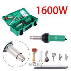 1600W Hot Air Torch Plastic Welding Gun Welder Pistol Tool Kit with ABS Hard Case