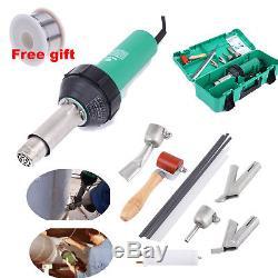 1600W Hot Air Torch Plastic Welding Heat Gun Pistol PVC Welder Tool with 4 Nozzle
