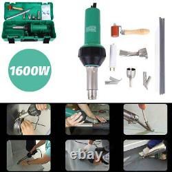 1600W Plastic Welder Gun Vinyl Floor Hot Air Welding Kit Roofing Heat Gun kit