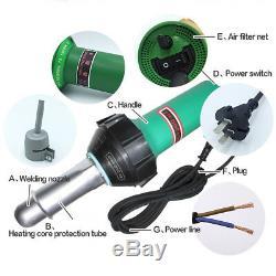 1600W Plastic Welding Gun Kit PVC PE Plastic Hot Air Heat Welder With Accessories