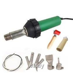 1600w Plastic Welder Hot Air Gun Plastic Welding Torch Tool With 4pcs Nozzles