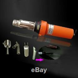 2000W Hot Air Welder Gun Plastic Tool Set with Round Nozzle Speed Welding Nozzle