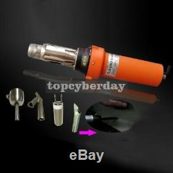 2000W Hot Air Welder Gun Plastic Tool Set with Round Nozzle Speed Welding Nozzle