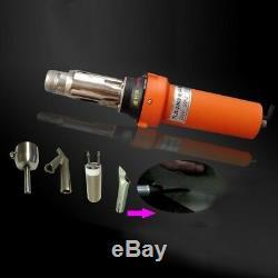 2000W Hot Air Welder Gun Plastic Welding Gun Tools Set withRound Nozzle Speed sz