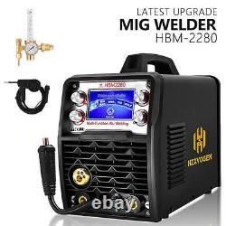 200A MIG/Gas/Gasless/TIG/Stick Arc 110V 220V Welder With Spool Gun Weld Aluminum
