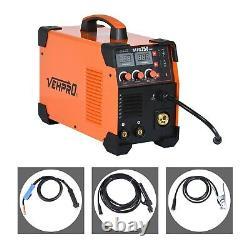 3-IN-1 MIG MMA TIG Welder DC 200A Inverter Gas Gasless Arc Spool Welding Gun
