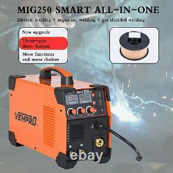 3-in-1 MMA TIG Gas Gasless Arc Spool Gun Welding MIG 200A Inverter DC Welder