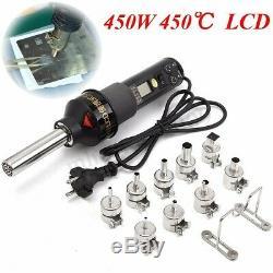 450W 450 LCD Hot Air Torch Plastic Welding Gun Welder Pistol Soldering Tool
