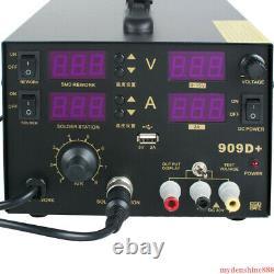4In1 Digitale Rework Soldering Welder Station 909D+ Hot Air Gun 800W Welding Kit