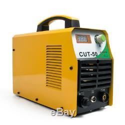 50A Air Plasma Cutter Welder Cutting Machine 110/220V DC Inverter With Free Gun