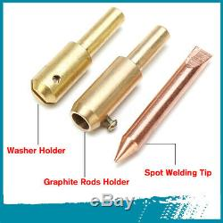 78/86Pcs Car Body Dent Welder Puller Spot Repair Device Welding Gun Slide Hammer