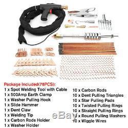 78Pcs Dent Puller Welder Kit Car Body Spot Repair Device Stud Welding Gun Tool