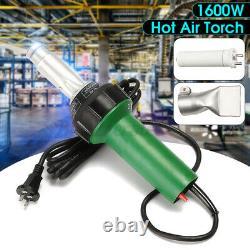 AC220V 1600W Hot Air Torch Plastic Welding Heat Gun Pistol PVC Vinyl Welder Tool