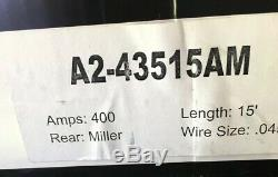 ATTC MIG WELDING GUN 400A 15ft. 045 TWECO for MILLER WELDER