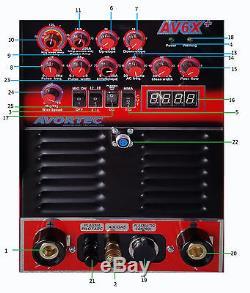 AVORTEC MIG PRO 250 TIG AC/DC, pulse sq wave, ALUMINUM, SS, PILOT ARC PLASMA, ARC