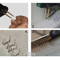 Auto Bumper Body Repair Plastic Hot Stapler Welder Welding Gun Machine Kit 110V