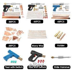 Car Body Spot Repair Dent Puller Welder Kit Stud Welding Hammer Gun Wavy Wire