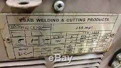 Esab 350 Mpi Multi Process Mig Tig Welder Mig35 Wire Feed Pedal Cart Gun Reg 1ph