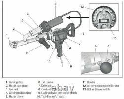 Extruder Welder EX3 Handheld Plastic Extrusion Welding Machine Heat Gun Booster