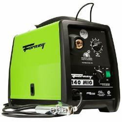 Forney 140 Amp Mig Welder Gas or No Gas Welding 120V Part 309 w 10' Mig Gun