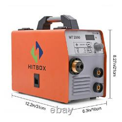 HITBOX MIG Welder 220V Gas/Gasless ARC MIG MAG Lift Tig Welding /w TIG Gun