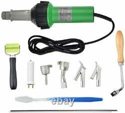 HUKOER 1600W Handheld Plastic Welder, Hot Air Gun Vinyl Welding Heat Gun, Floorin