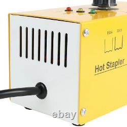 Hot Stapler Plastic Welder Welding Repair Kit Gun Car Bumper Repair +700 Staples