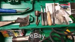 Leister 110v Hot Air Welding Tool Heat Gun Hand Welder With Carry Case + Extras