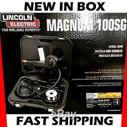 Lincoln Aluminum Spool Gun Magnum 100SG Welding 10 ft Cable Harness Case Welder