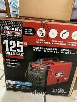 Lincoln Electric 125HD WELD pak Flux cored magnum 100L Gun wire WELDER K2513-1