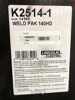 Lincoln Electric 140HD WELD pak MIG Pro 140 HD WIRE FEED WELDER K2514-1 gun