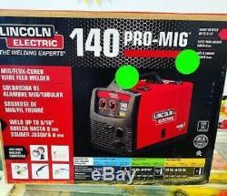 Lincoln Electric 140HD WELD pak MIG TIG Pro 140 HD WIRE FEED WELDER K2480-1 gun
