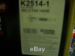 Lincoln Electric 140HD WELD pak MIG TIG Pro 140 HD WIRE FEED WELDER K2514-1 gun